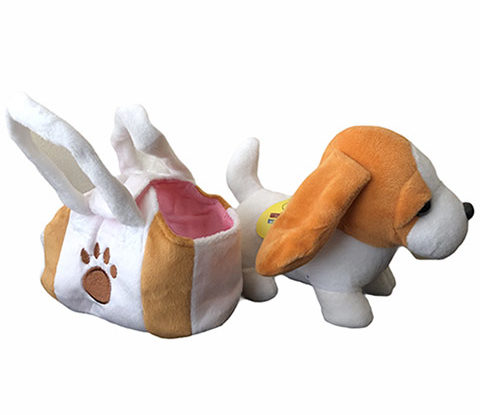 Plyšák-pes v kabelce
