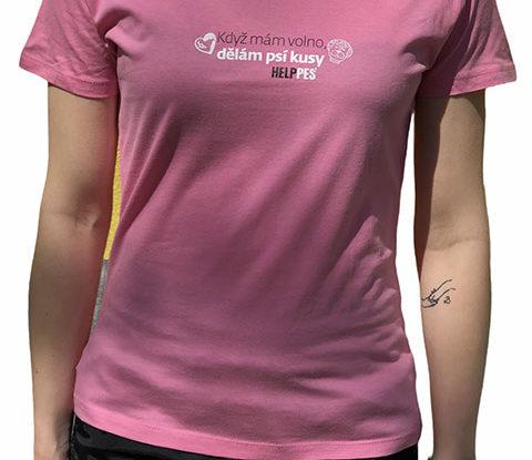 Dámské růžové tričko